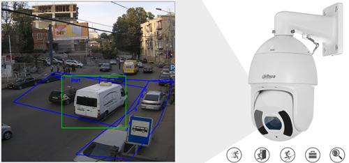 DH-SD6CE230U-HNI - Inteligentna analiza detekcji obrazu.