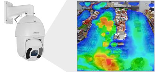 DH-SD6CE230U-HNI - Funkcja mapy ciepła.