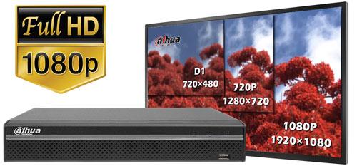DH-XVR5104HS-X - Obraz w rozdzielczości Full HD.