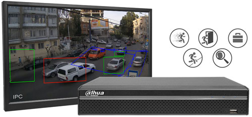 DH-XVR5104HS-X1 - Wbudowana analiza wideo dla kamer AnalogHD.