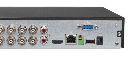 DH-XVR5108HS-X - Port USB generacji 2.0.
