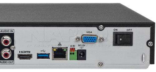 DH-XVR5216AN-X / DH-XVR5216A-X - Port USB generacji 3.0.