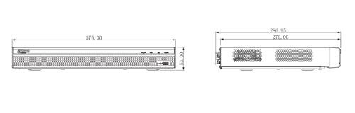 DH-XVR5216AN-4KL-X / DH-XVR5216AN-4KL-X-16P - Wymiary rejestratora (mm).