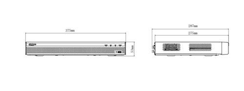 DH-XVR5216AN-X / DH-XVR5216A-X - wymiary rejestratora.