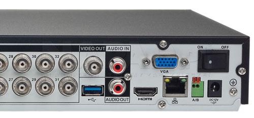 DH-XVR5232AN-X - Port USB generacji 3.0.