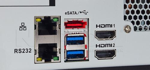 DH-XVR5432L-X - Port USB generacji 3.0.