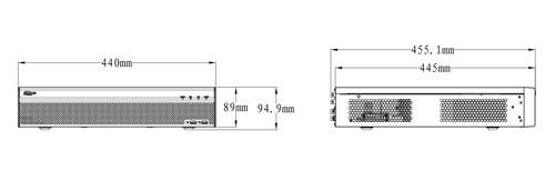 DH-XVR5832S-X - wymiary rejestratora.