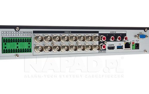 DH-XVR7216A-4KL-X - Tylny panel rejestratora XVR 4.0.