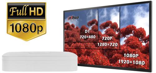 DH-XVR5108C-X - Obraz w rozdzielczości Full HD.