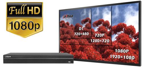 DHI-NVR2204-S2 / DHI-NVR2204-P-S2 - Obraz w rozdzielczości Full HD.