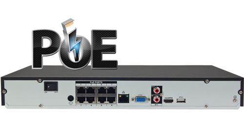 DHI-NVR2208-8P-4KS2 - Wbudowany switch PoE w rejestratorze NVR.