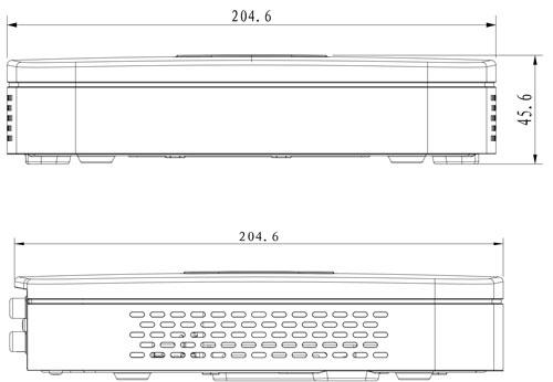 NVR4104-4KS2 / NVR4104-P-4KS2 - Wymiary rejestratora sieciowego (mm).