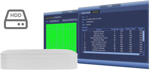 DHI-NVR2108-4KS2 / DHI-NVR2108-8P-4KS2 - Funkcja zarządzania dyskami.