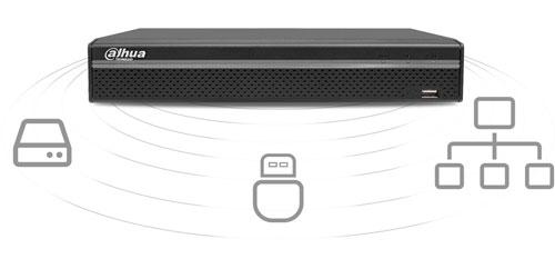 DHI-NVR4116HS-4KS2  - Sposoby archiwizacji nagrań.