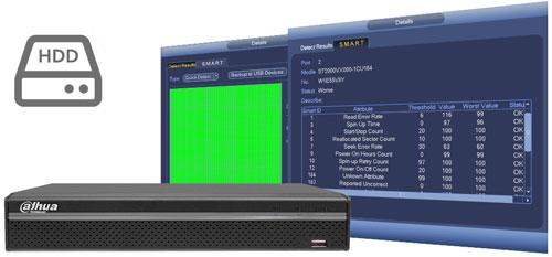 DHI-NVR4116HS-4KS2 - Funkcja zarządzania dyskami.