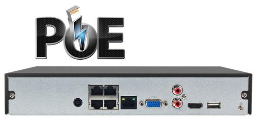 DHI-NVR4104HSP-4KS2 - Wbudowany switch PoE w rejestratorze NVR.