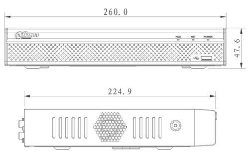 DHI-NVR4116HS-4KS2 - Wymiary rejestratora sieciowego (mm).