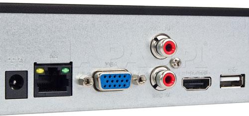 DHI-NVR4104HS-4KS2 / DHI-NVR4104HS-P-4KS2 - Dwa porty USB generacji 2.0.