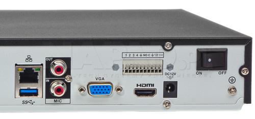 DHI-NVR4208-4KS2 / DHI-NVR4208-8P-4KS2 - Port USB generacji 3.0.