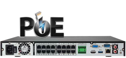 DHI-NVR4216-16P-4KS2 - Wbudowany switch PoE w rejestratorze NVR.
