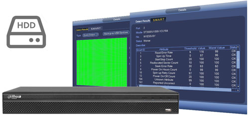 DHI-NVR4208-4KS2 / DHI-NVR4208-8P-4KS2 - Funkcja zarządzania dyskami.