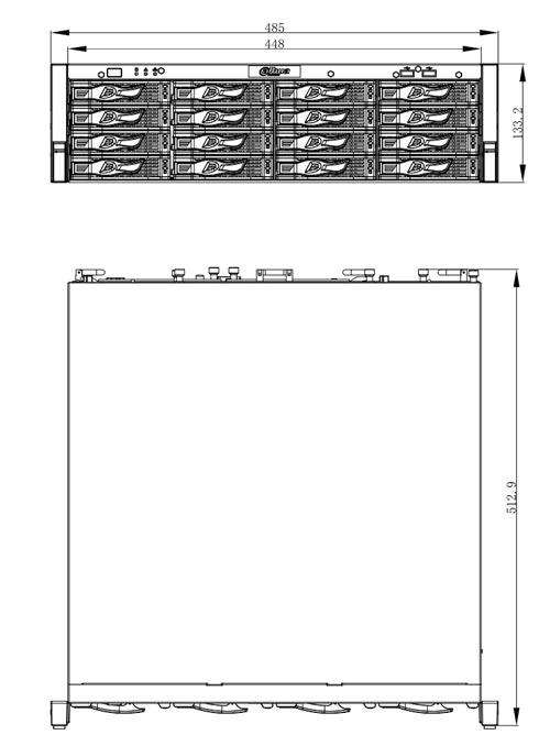 DHI-NVR616R-64-4KS2 - Wymiary rejestratora sieciowego Dahua (mm).