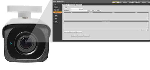 ITC237-PW1B-IRZ - Wbudowana w kamerze lista kontroli dostępu.