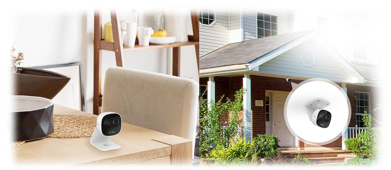 Przykład instalacji kamery z wykorzystaniem uchwytu.