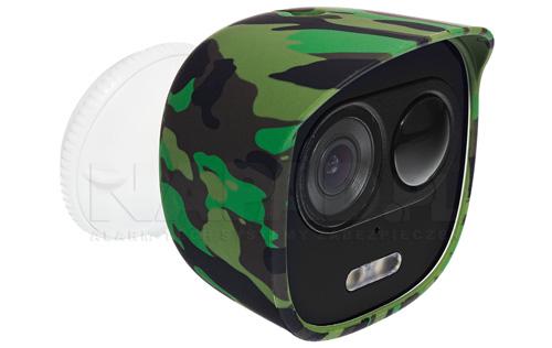 Przykładowy widok kamery LOOC z pokrowcem w kolorze khaki.