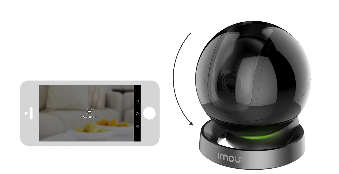 Maska prywatności w kamerze Imou.