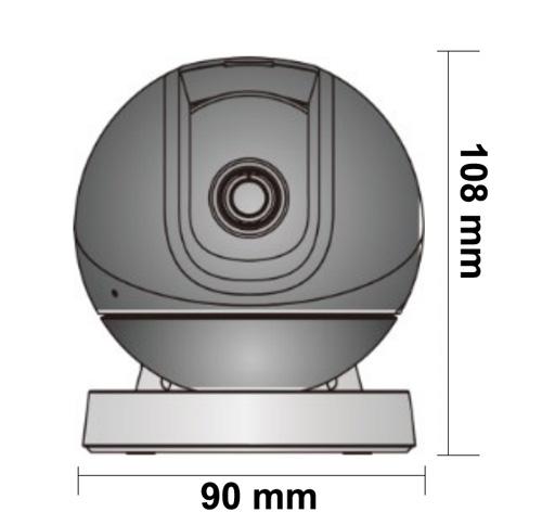 Wymiary kamery Imou podane w milimetrach.