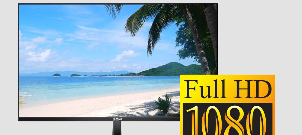 Obraz w rozdzielczości Full HD w monitorze Dahua.