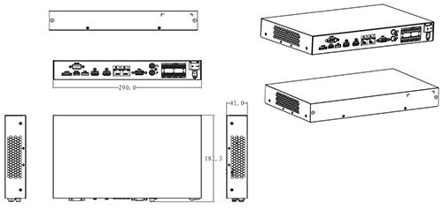 M70-D-0204HO - Wymiary dekodera TV-Wall.