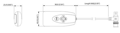 PFM820 - Wymiary kontroler UTC Dahua.