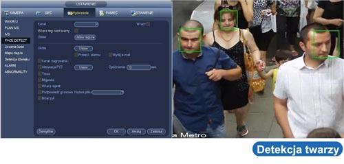 Inteligentna detekcja twarzy w rejestratorze Dahua.