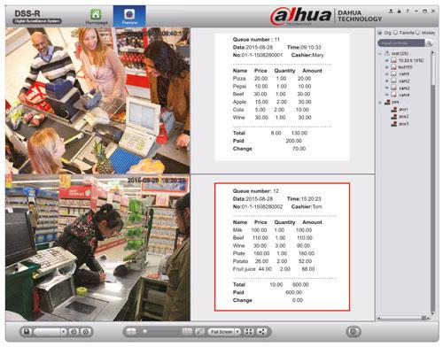 Dahua - integracja systemu z kasami fiskalnymi (POS).
