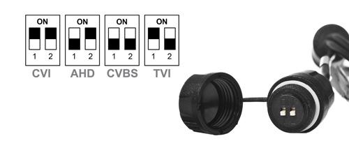 Instrukcja przełącznika DIP w kamerze Analog HD Dahua.
