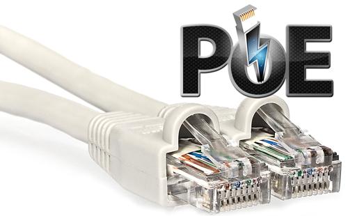IPC-HUM8431-E1 + IPC-HUM8431-L1-0280B - Zasilanie poprzez technologia PoE.