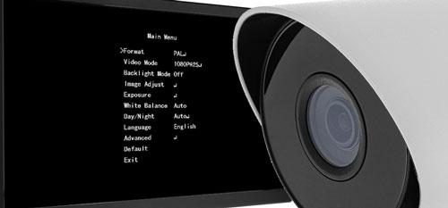 Menu OSD kamery bezpośrednio z XVR.