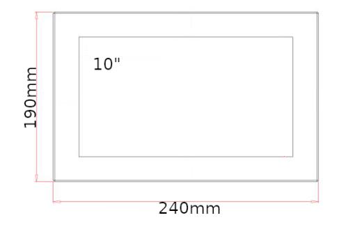 Wymiary monitor LCD VMT-101