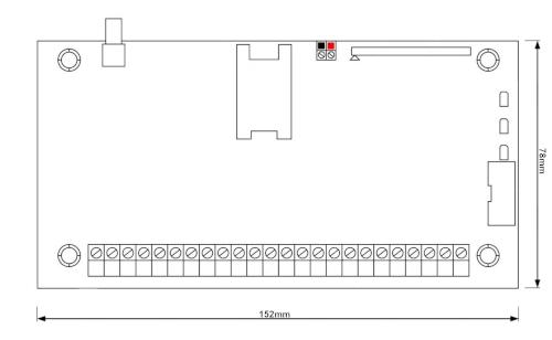 Wymiary centrali CPX230NWB-52V