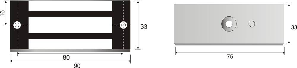 Wymiary zwory EL-120S.