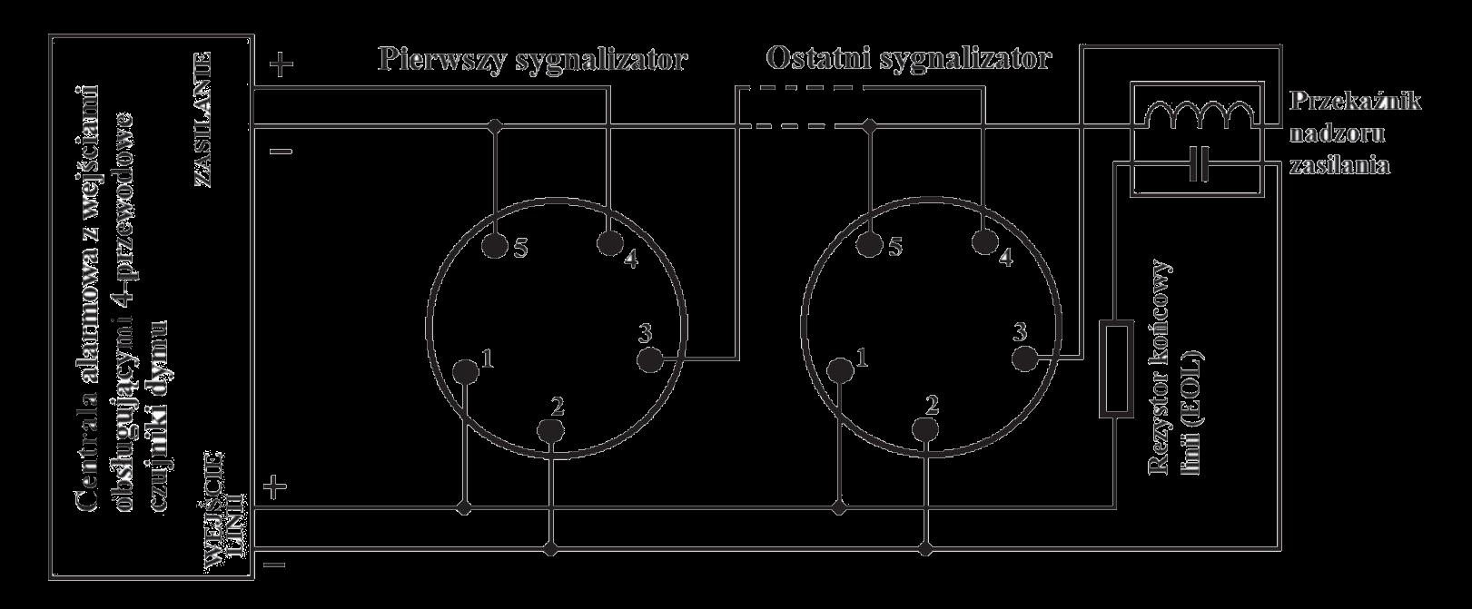 Schemat połączeń ALG-61b8