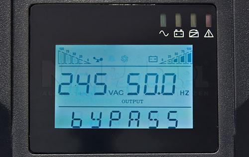 Wyświetlacz LCD w UPS 10000