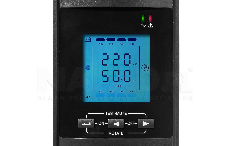 Wyświetlacz LCD zasilacza UPS2000RT