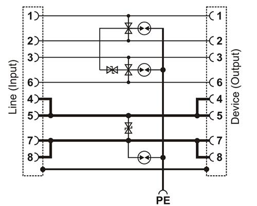 Uproszczony schemat blokowy jednego kanału.