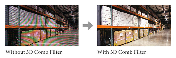 Przykładowe zastosowanie filtra grzebieniowego 3D w monitorze PM 32.