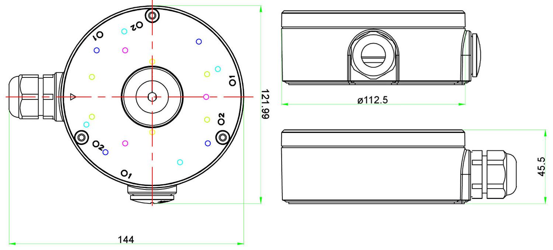 JB-403 - Wymiary uchwytu podane w mm.
