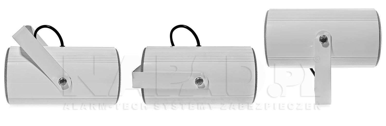 Wygodna instalacja głośnika poprzez regulowany uchwyt.