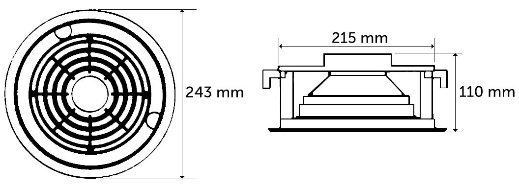 HQM-106 - Wymiary głośnika.